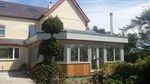 Hardwood orangery with glazed lantern